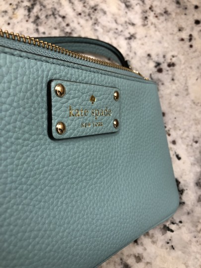 Kate Spade Leather Clutch Blue Wristlet in Turquoise Image 5