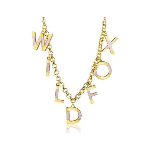 Wildfox WILDFOX COUTURE 'WILDFOX' 14KT YG PLATED/TEXTURED 7 CHARMS BRACELET Image 3