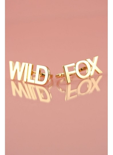 Wildfox WILDFOX COUTURE 'WILDFOX' 14KT YG PLATED/PINK ENAMEL 7 CHARMS NECKLACE Image 2