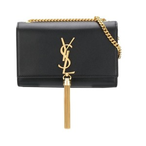 f5e397df2110 Saint Laurent Monogram Classic Ysl Small Kate Tassel In Noir Black ...