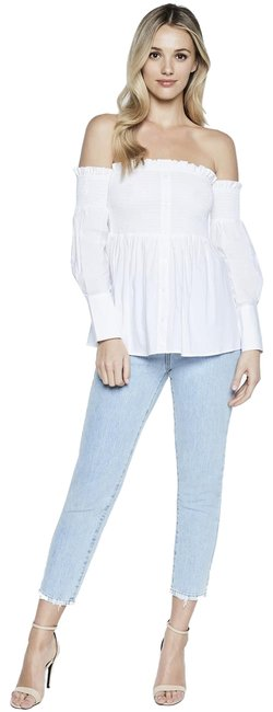 Preload https://img-static.tradesy.com/item/23901857/bardot-white-off-the-shoulder-blouse-size-6-s-0-1-650-650.jpg