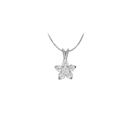 Preload https://img-static.tradesy.com/item/23901870/white-cubic-zirconia-flower-pendant-in-sterling-silver-unique-set-wi-necklace-0-0-540-540.jpg