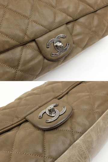 8ee383996420 Chanel Classic Flap Extra Large Maxi 2way 230562 Brown Leather ...