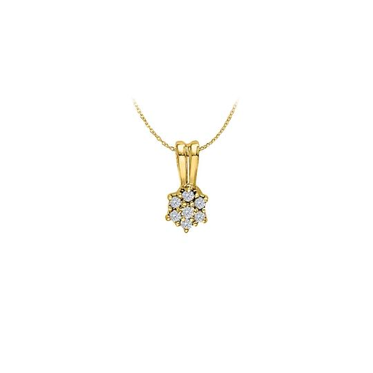 Preload https://img-static.tradesy.com/item/23901887/white-cubic-zirconia-flower-pendant-in-yellow-gold-vermeil-pretty-gi-necklace-0-0-540-540.jpg
