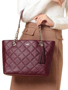 Kate Spade New York Emerson Place Priya Small Quilted Tote Leather Purse Shoulder Bag