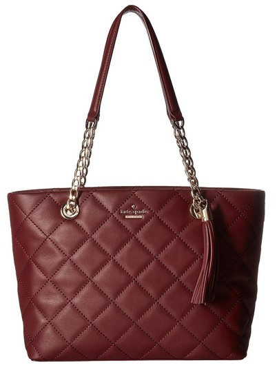 Kate Spade New York Emerson Place Priya Small Quilted Tote Leather Purse Shoulder Bag Image 1
