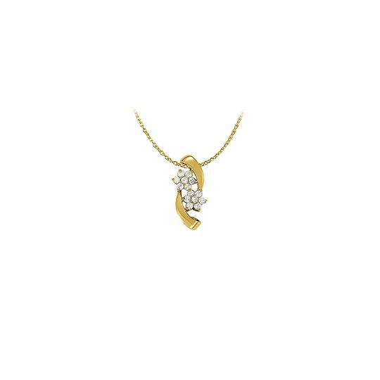 Preload https://img-static.tradesy.com/item/23901902/white-cubic-zirconia-flower-pendant-in-yellow-gold-vermeil-unique-se-necklace-0-0-540-540.jpg