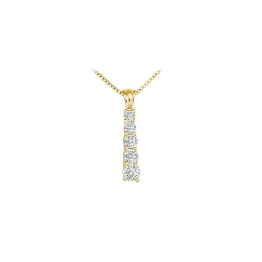 Preload https://img-static.tradesy.com/item/23901990/white-cubic-zirconia-journey-pendant-18k-yellow-gold-vermeil-150-ct-czs-necklace-0-0-540-540.jpg