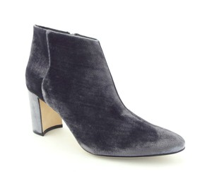 Manolo Blahnik Zip Zipper Brustalo Brusta Block Heel Grey Boots