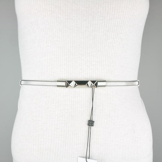 BCBGMAXAZRIA BCBG White Adjustable Faux Leather Belt Image 1