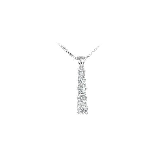 Preload https://img-static.tradesy.com/item/23902089/white-cubic-zirconia-journey-pendant-sterling-silver-100-ct-czs-necklace-0-0-540-540.jpg