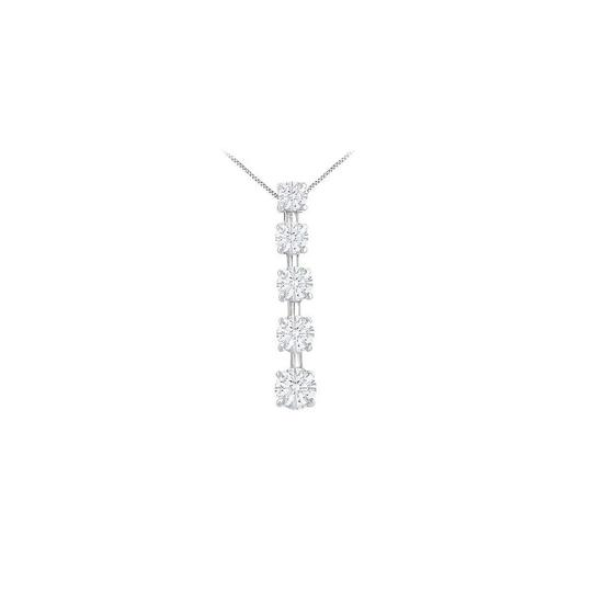 Preload https://img-static.tradesy.com/item/23902156/white-cubic-zirconia-journey-pendant-sterling-silver-200-ct-czs-necklace-0-0-540-540.jpg