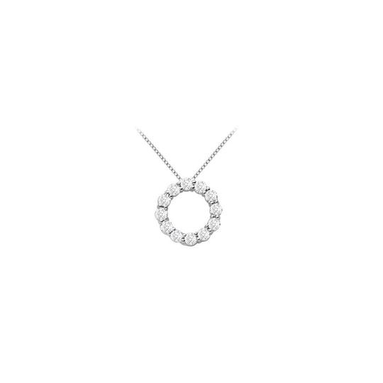 Preload https://img-static.tradesy.com/item/23902183/white-cubic-zirconia-open-circle-pendant-with-125-carat-czs-in-sterling-sil-necklace-0-0-540-540.jpg