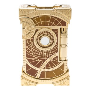 S.T. Dupont Brown Lacquer and Gold Finish Shoot The Moon Limited Edition Lighter