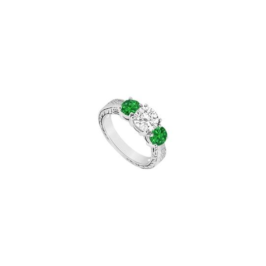 Preload https://img-static.tradesy.com/item/23902252/white-green-white-three-stone-created-emerald-and-cubic-zirconia-sterling-silver-ring-0-0-540-540.jpg