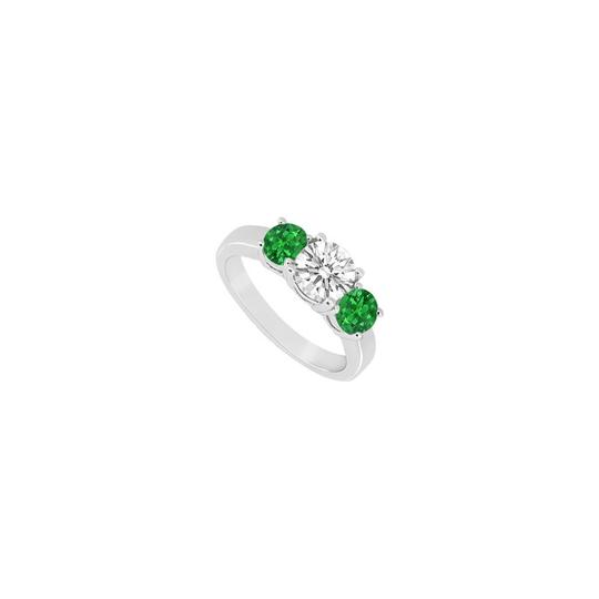 Preload https://img-static.tradesy.com/item/23902262/white-green-white-three-stone-created-emerald-and-cubic-zirconia-sterling-silver-ring-0-0-540-540.jpg