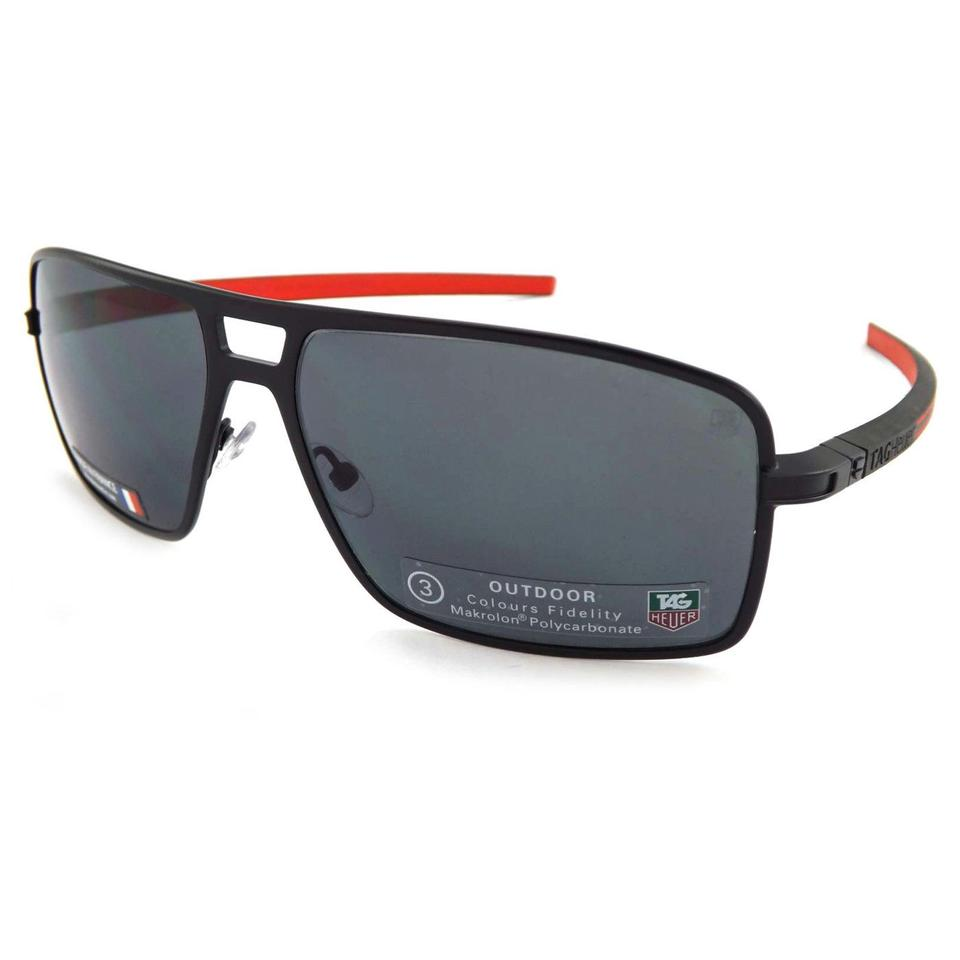 ccb21ede011 TAG Heuer Tag Heuer Senna Racing Black   Red Driving Polarized TH0987 101  ...
