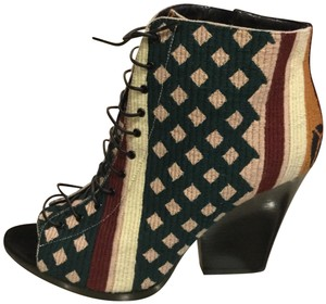 Burberry Wedges Tapestry Prorsum Multicolor Boots