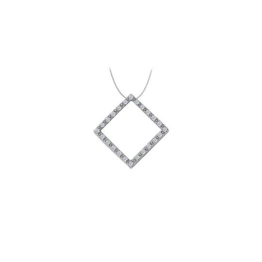 Preload https://img-static.tradesy.com/item/23902476/white-cubic-zirconia-square-shaped-pendant-in-sterling-silver-025-ct-tgwper-necklace-0-0-540-540.jpg