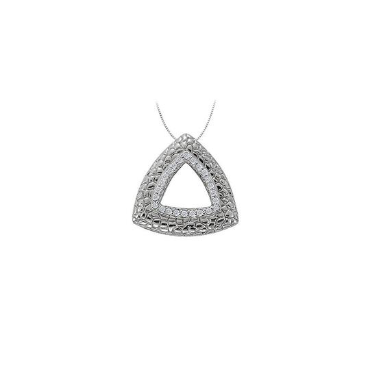 Preload https://img-static.tradesy.com/item/23902503/white-cubic-zirconia-triangle-shaped-fashion-pendant-in-sterling-silver-025-necklace-0-0-540-540.jpg