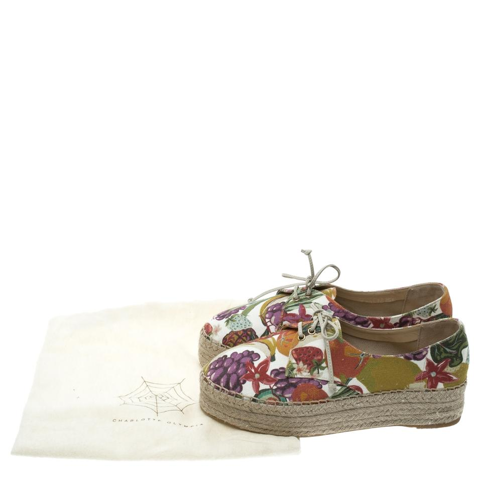 Espadrille Charlotte Printed Flats Multicolor Olympia Canvas Maria Derby qwFRBXAw