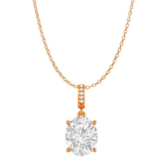 Preload https://img-static.tradesy.com/item/23902574/white-cz-accented-oval-cz-pendant-in-14k-rose-gold-vermeil-necklace-0-0-540-540.jpg