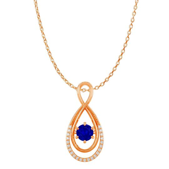Preload https://img-static.tradesy.com/item/23902653/blue-cz-sapphire-infinity-double-loop-pendant-14k-vermeil-necklace-0-0-540-540.jpg