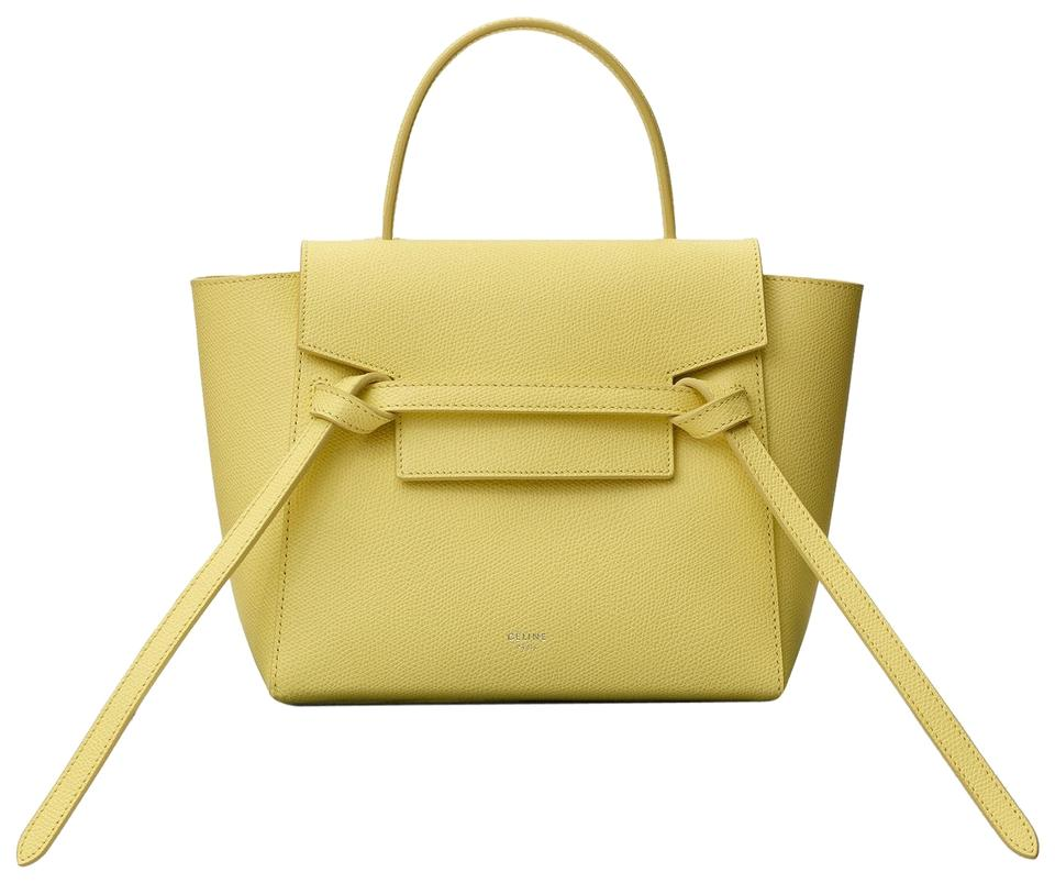 d83c8413d Céline Belt Nano In Grained Calfskin Citrus Leather Shoulder Bag ...