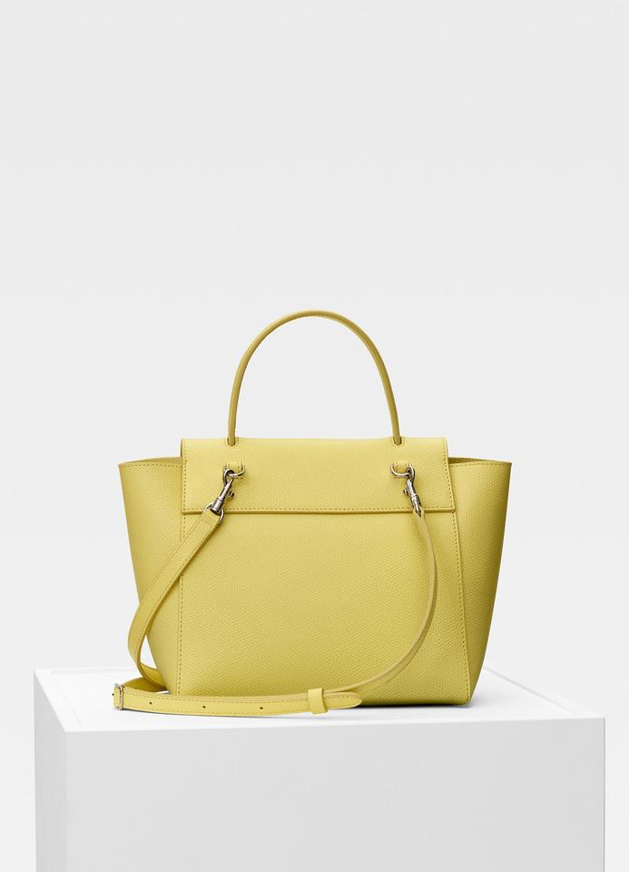 370ac2cf949b9 Céline Belt Nano In Grained Calfskin Citrus Leather Shoulder Bag ...