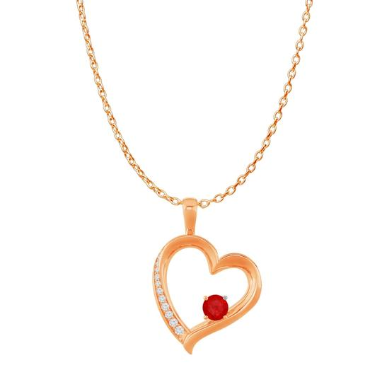 Preload https://img-static.tradesy.com/item/23902667/red-cz-ruby-birthstones-heart-pendant-14k-rose-gold-vermeil-necklace-0-0-540-540.jpg