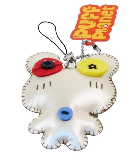 Closeoutservices Puff Planet Button-Eyed Stitch Doll Charm with Keychain-