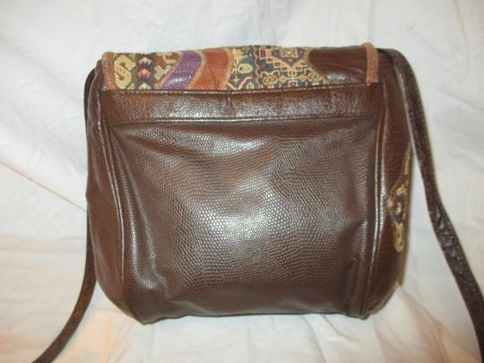 Fifth Avenue Handbags Leather Faux Leather Tapestry Patchwork Vintage Cross Body Bag Image 7