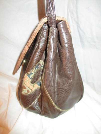 Fifth Avenue Handbags Leather Faux Leather Tapestry Patchwork Vintage Cross Body Bag Image 8