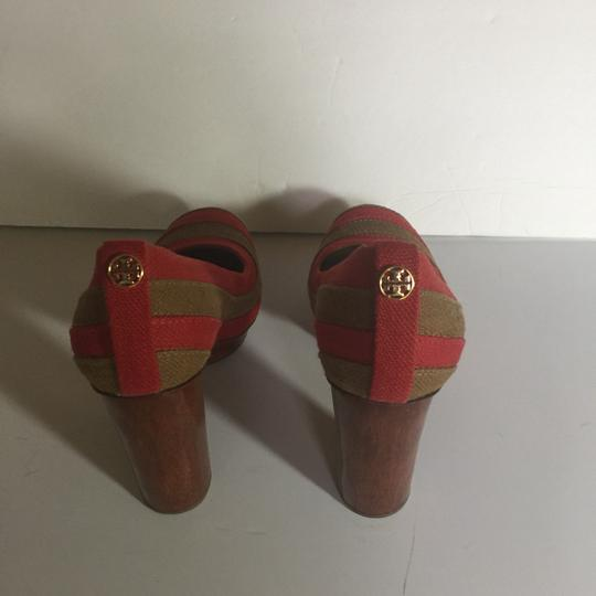 Tory Burch Brown and Red Pumps Image 2