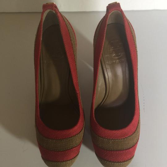 Tory Burch Brown and Red Pumps Image 3