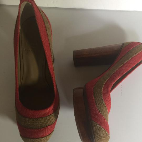 Tory Burch Brown and Red Pumps Image 6