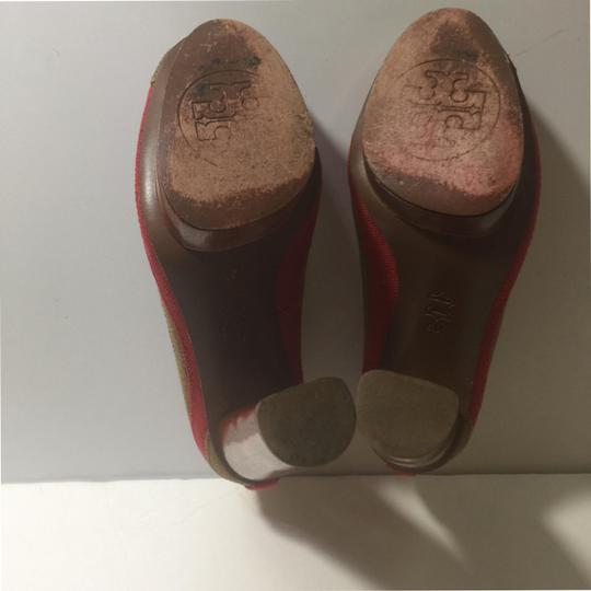 Tory Burch Brown and Red Pumps Image 7