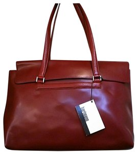 Hartmann Work Laptop Leather Tote in Red