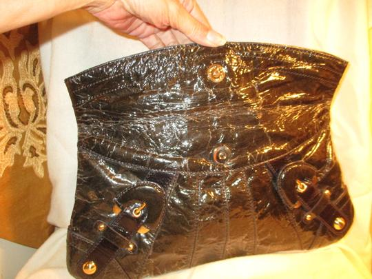 Hype Leather dark brown/bronze Clutch Image 6