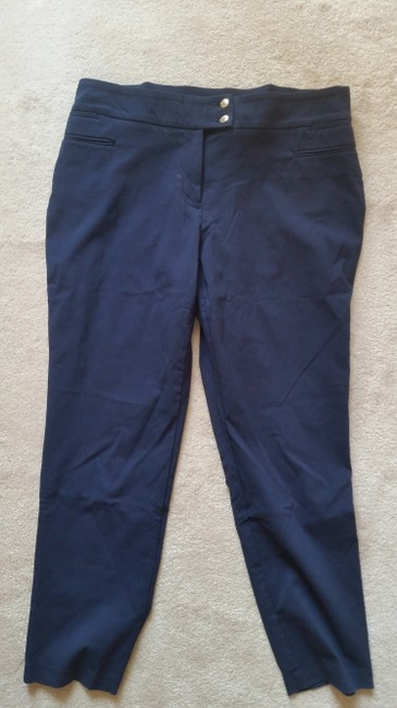 Style & Co Straight Pants Navy blue Image 2