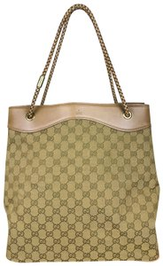 Gucci Canvas Gifford Braided Straps Tote in Brown