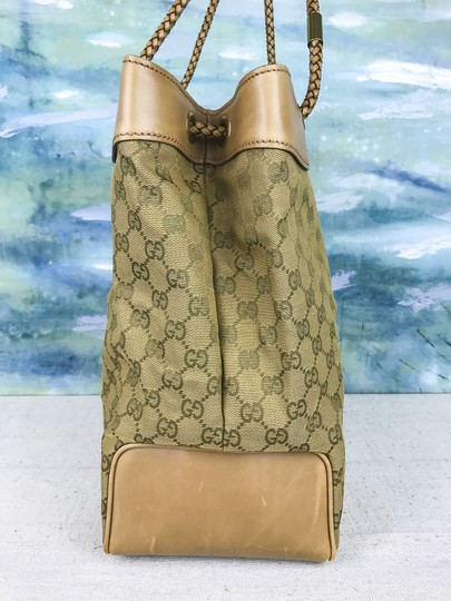 Gucci Canvas Gifford Braided Straps Tote in Brown Image 1