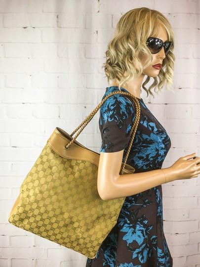 Gucci Canvas Gifford Braided Straps Tote in Brown Image 11