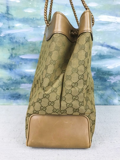 Gucci Canvas Gifford Braided Straps Tote in Brown Image 3