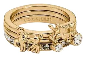 Coach Coach Horse and Carriage Ring Set