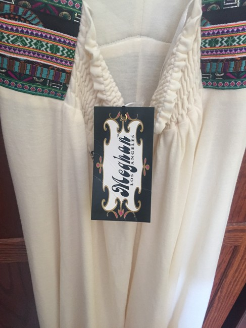 Cream Maxi Dress by Meghan LA Embroidered Waist Maxi Halter Image 1