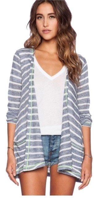 Preload https://img-static.tradesy.com/item/23903649/c-and-c-california-striped-drape-cardigan-blue-sweater-0-1-650-650.jpg