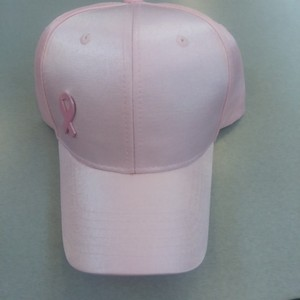 'L&H Luxury Headwear' Pink Cap With Enamel Ribbon and Bow