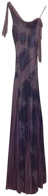 Laundry by Shelli Segal Lavender and Blue Silk Maxie Long Formal Dress Size 2 (XS) Laundry by Shelli Segal Lavender and Blue Silk Maxie Long Formal Dress Size 2 (XS) Image 1