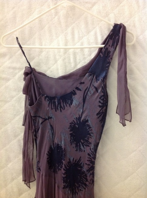 Laundry by Shelli Segal Lavender and Blue Silk Maxie Long Formal Dress Size 2 (XS) Laundry by Shelli Segal Lavender and Blue Silk Maxie Long Formal Dress Size 2 (XS) Image 4